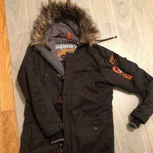 SuperDry Men's Parka Winter Coat size M like new